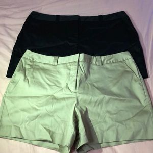 2 Worthington Shorts Black & Khakis.